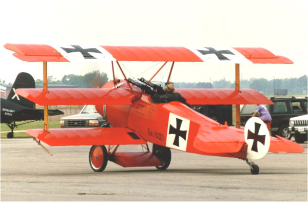 A flying replica of Manfred von Richthofen's all red Fokker Triplane, part of the fleet of World War I replicas maintained and flown by The Great War Flying Museum in Brampton, Ont. Photo By John Corrigan