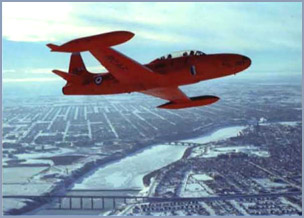 1959-60 Red Knight T-33 color theme
