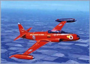 1961 Red Knight T-33 color theme